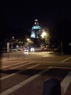 Philadelphia building in lights